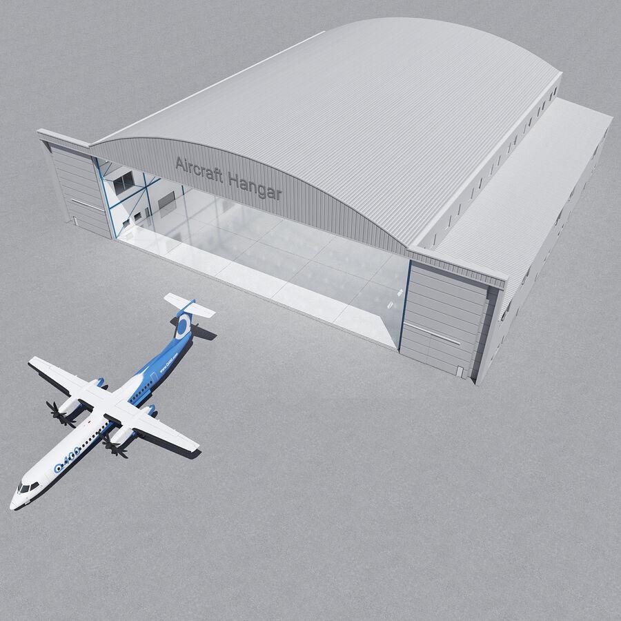 Ангар для самолетов 01 royalty-free 3d model - Preview no. 15