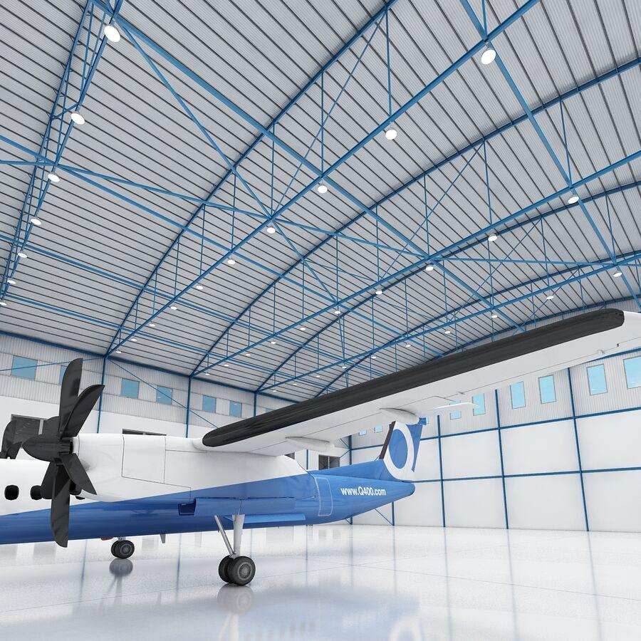 Ангар для самолетов 01 royalty-free 3d model - Preview no. 12