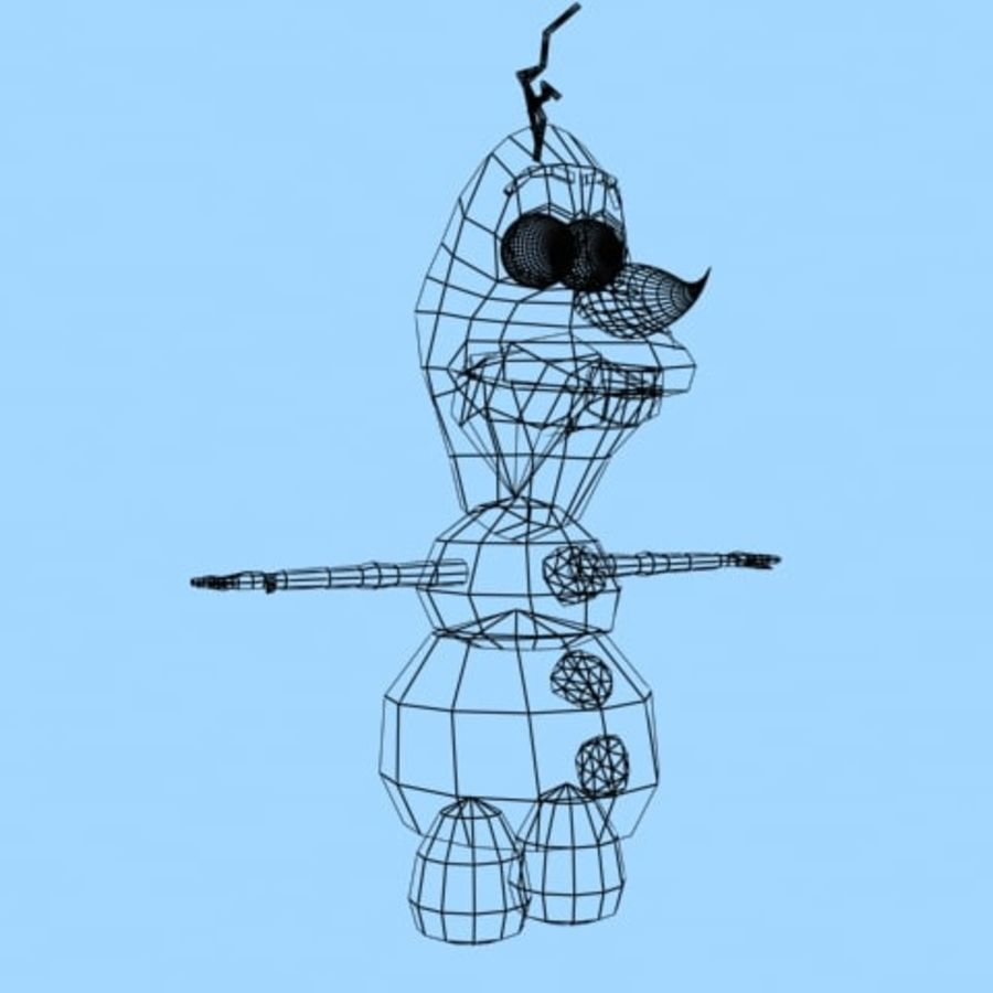 snowman royalty-free 3d model - Preview no. 9