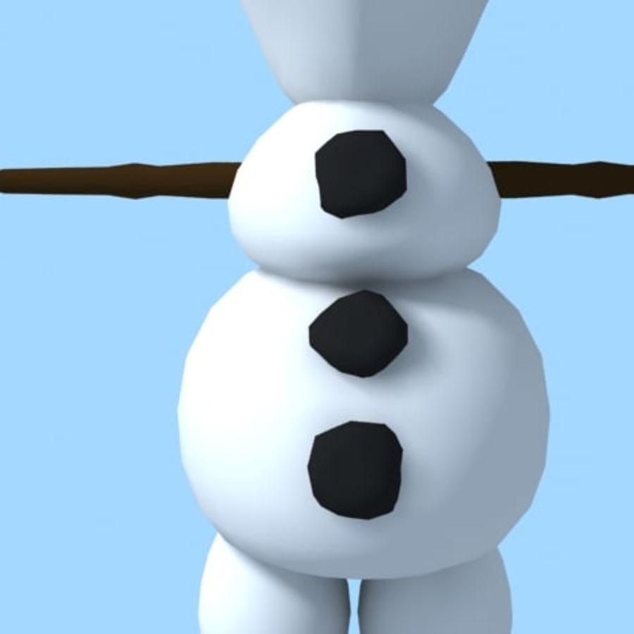snowman royalty-free 3d model - Preview no. 7
