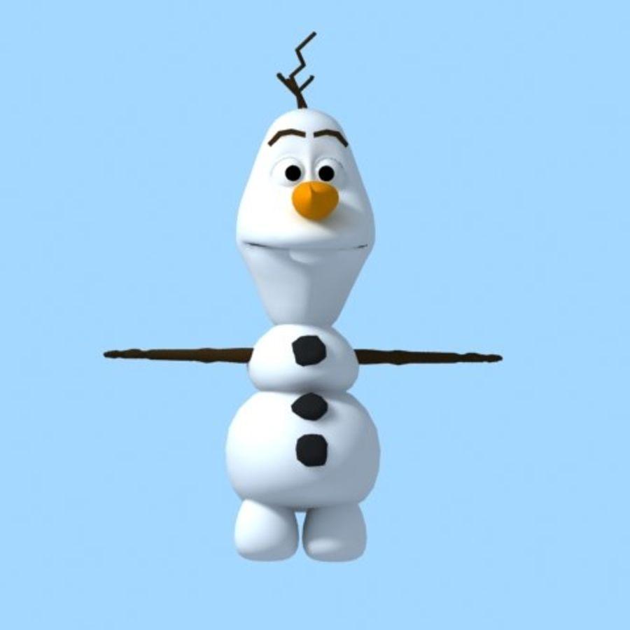 snowman royalty-free 3d model - Preview no. 1