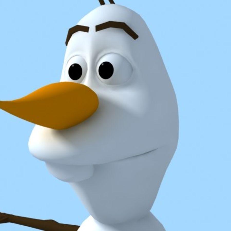 snowman royalty-free 3d model - Preview no. 4