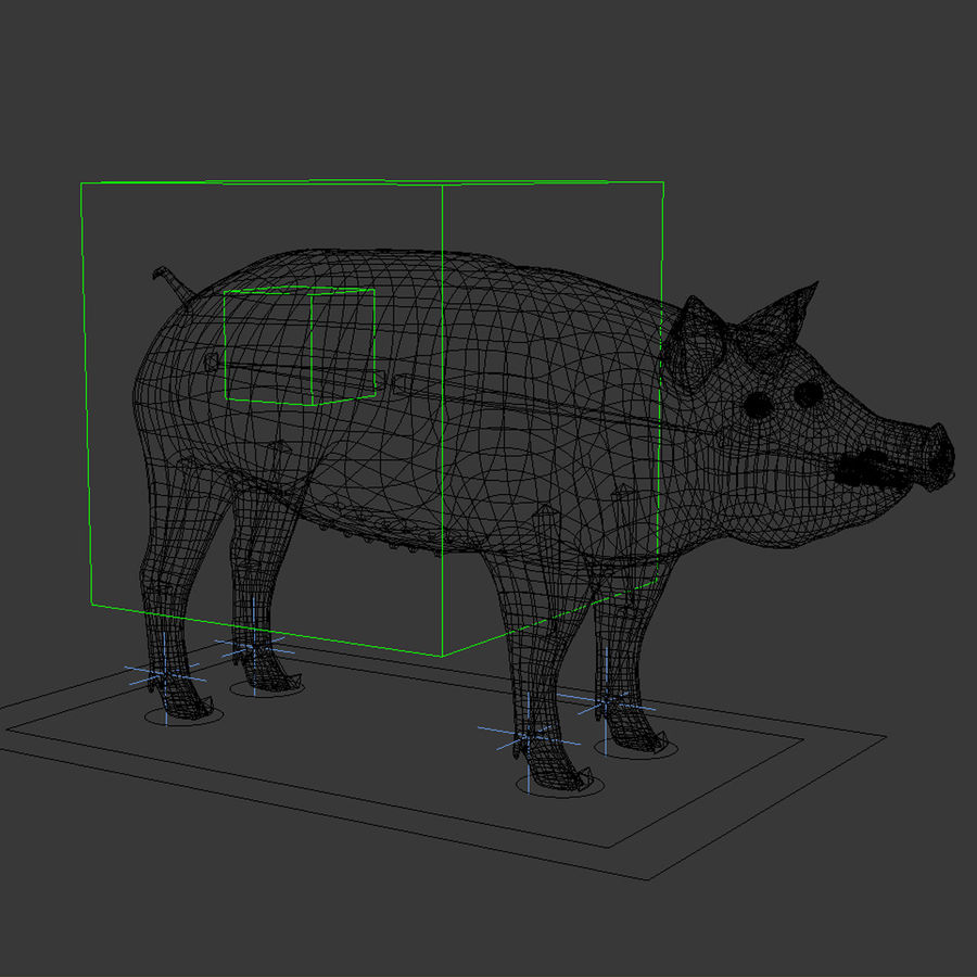 Pig royalty-free 3d model - Preview no. 11