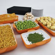 Nahrung für heiße Platte, Servery und Cafeteria 3d model