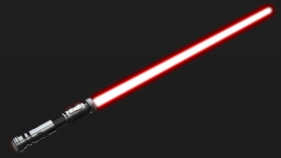 Dark Lightsaber royalty-free 3d model - Preview no. 4