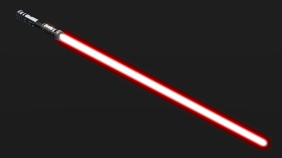 Dark Lightsaber royalty-free 3d model - Preview no. 5