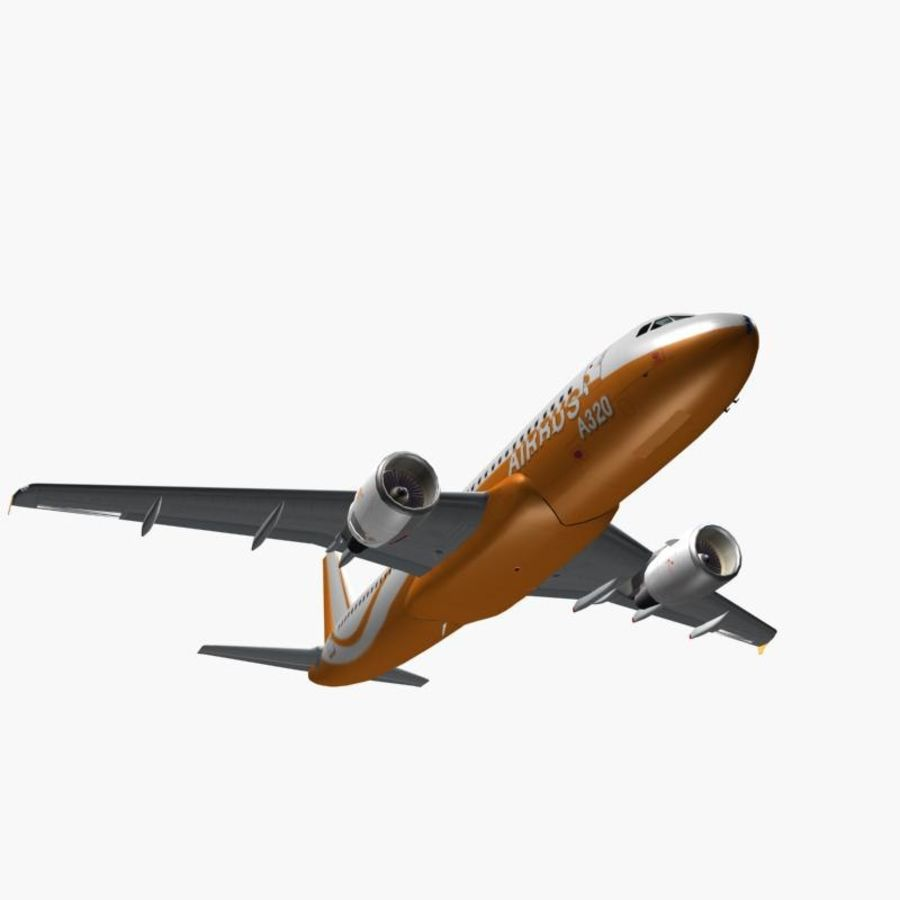 Airbus A320 royalty-free 3d model - Preview no. 10