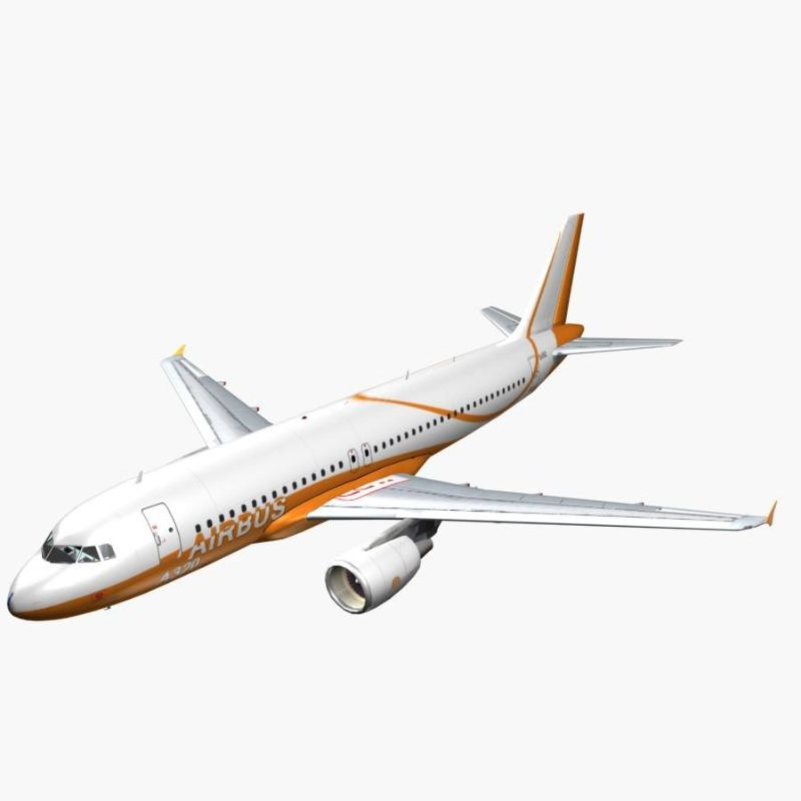 Airbus A320 royalty-free 3d model - Preview no. 8