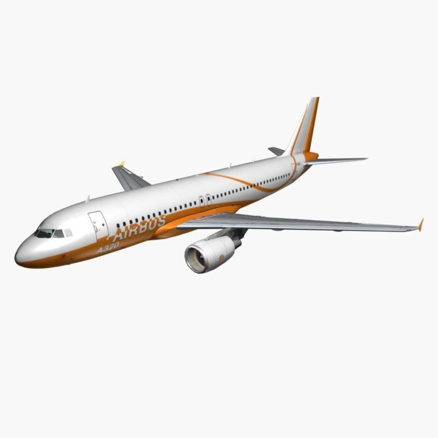 Airbus A320 royalty-free 3d model - Preview no. 1
