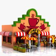 Cartoon Cafe 2 3d model