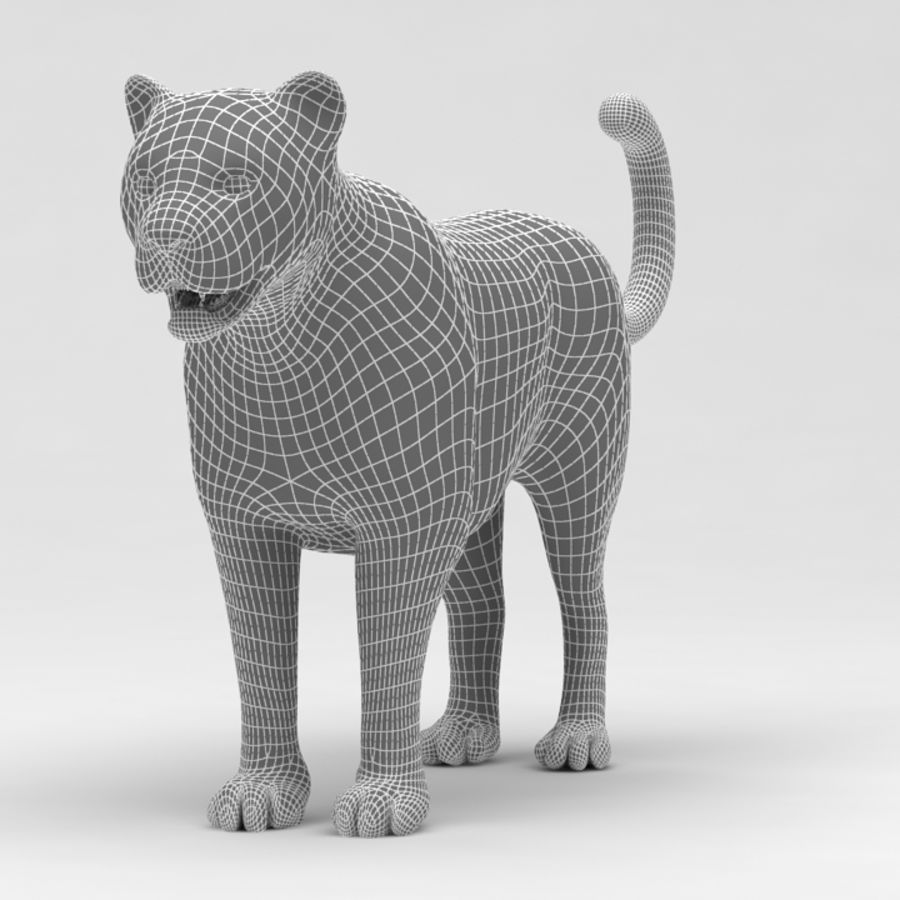 Leopard royalty-free 3d model - Preview no. 10