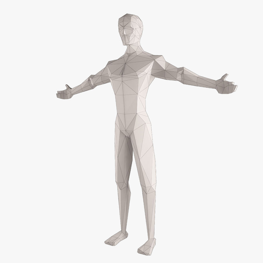 Man Figure royalty-free 3d model - Preview no. 1