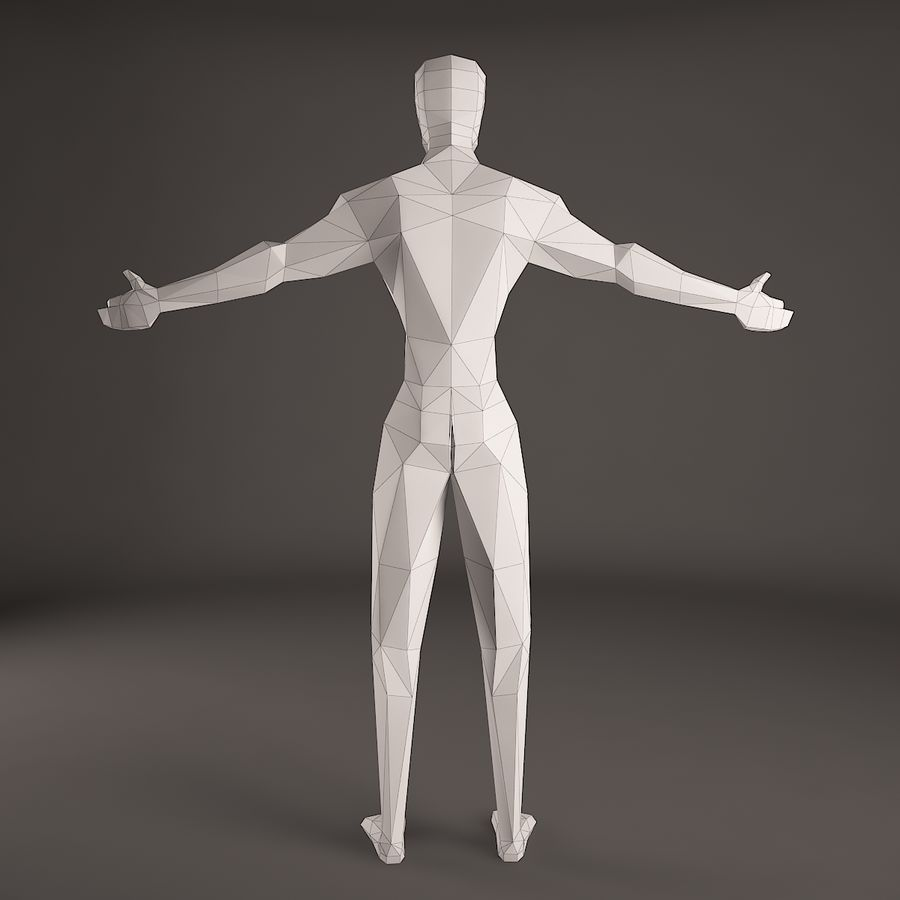 Man Figure royalty-free 3d model - Preview no. 5