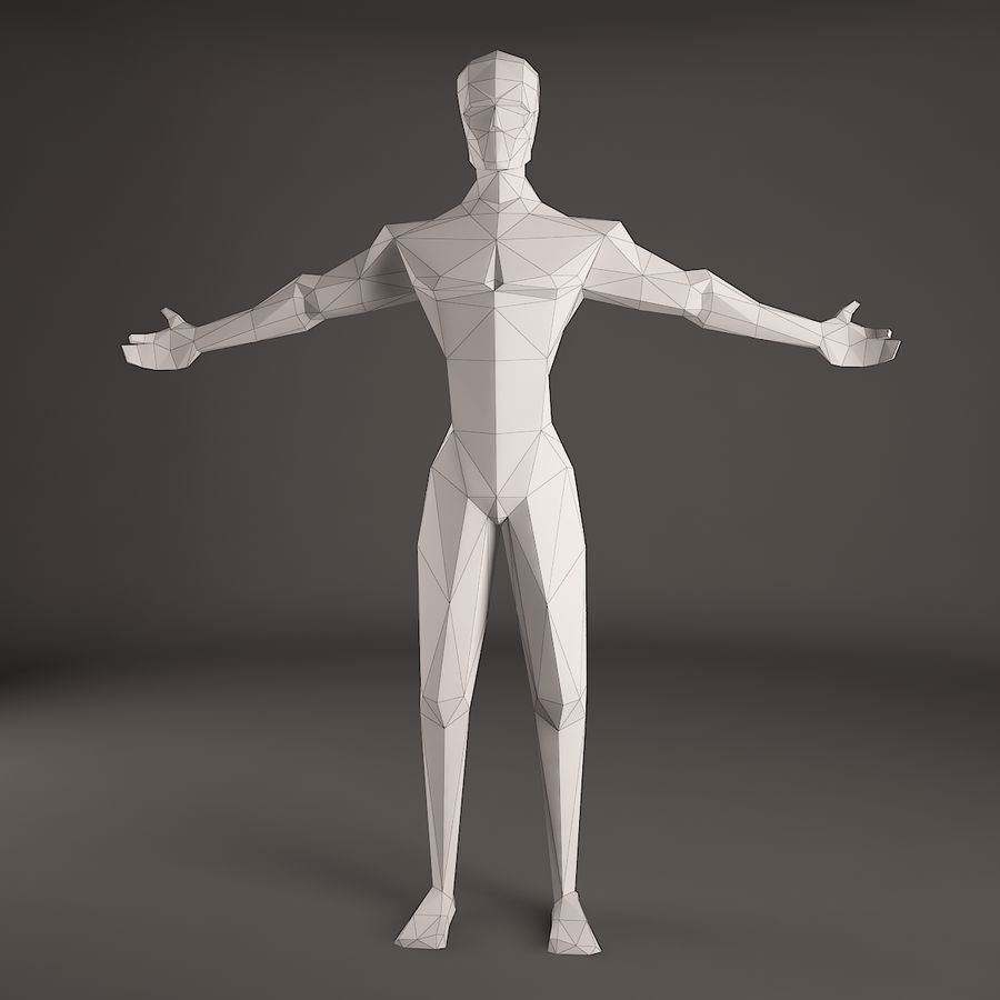 Man Figure royalty-free 3d model - Preview no. 4