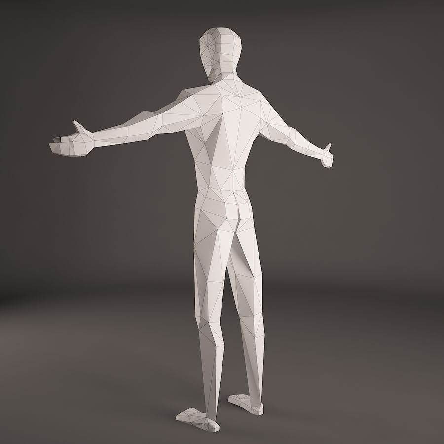 Man Figure royalty-free 3d model - Preview no. 3