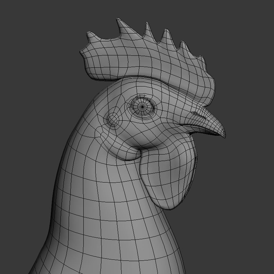 Rooster royalty-free 3d model - Preview no. 12