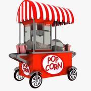Popcorn Cart 1 3d model