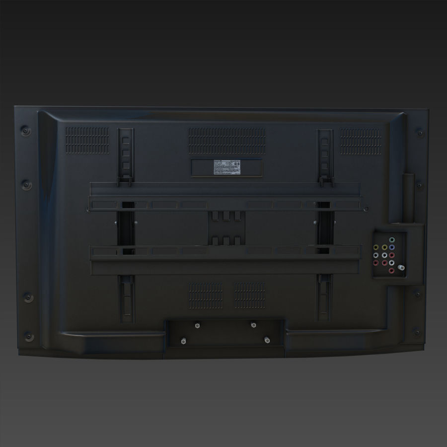 Flatscreen TV royalty-free 3d model - Preview no. 4