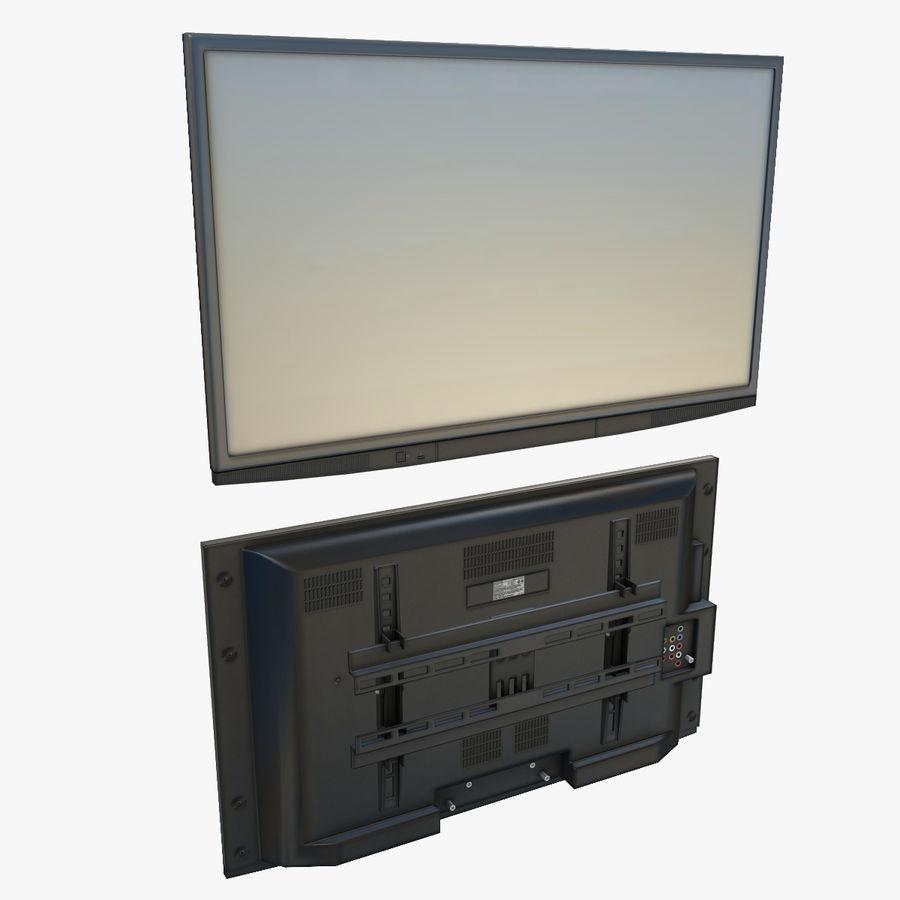 Flatscreen TV royalty-free 3d model - Preview no. 1
