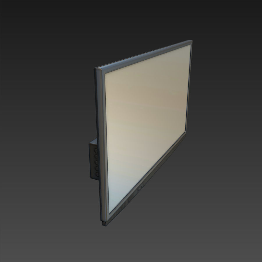 Flatscreen TV royalty-free 3d model - Preview no. 6