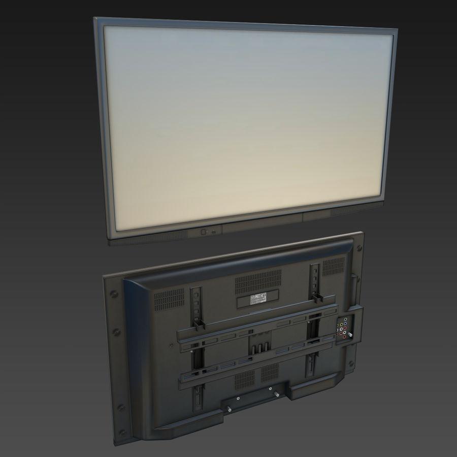 Flatscreen TV royalty-free 3d model - Preview no. 2