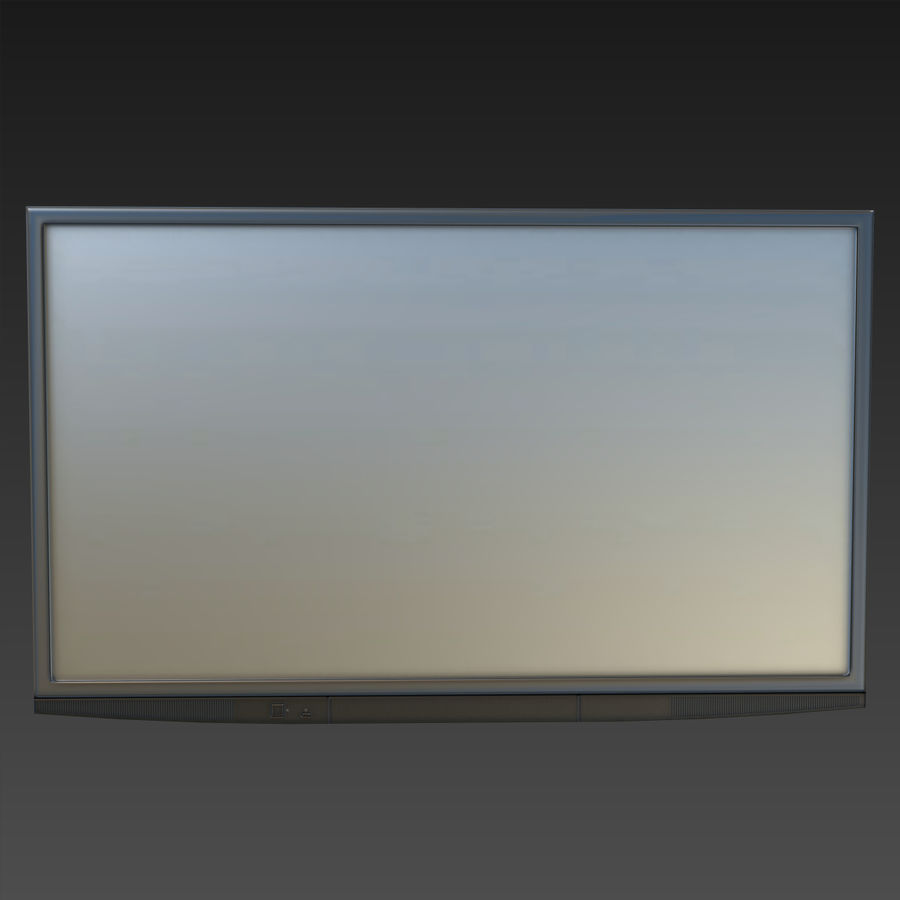 Flatscreen TV royalty-free 3d model - Preview no. 3