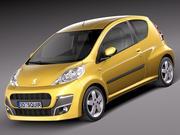 Peugeot 107 3 deuren 2013 3d model