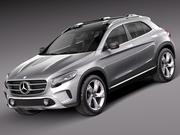 梅赛德斯 - 奔驰GLA概念2013年 3d model