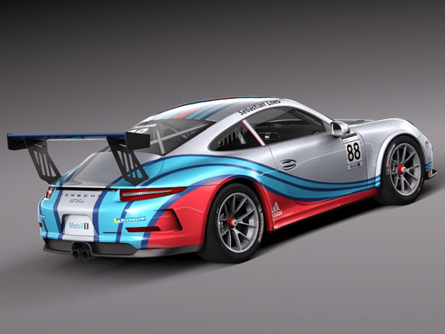 Porsche 911 GT3 Cup 2013 Martini royalty-free 3d model - Preview no. 5