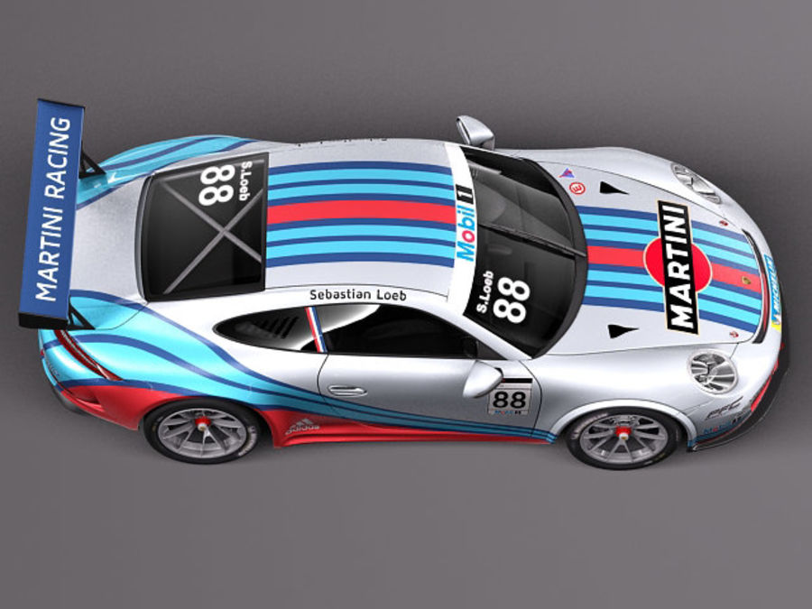 Porsche 911 GT3 Cup 2013 Martini royalty-free 3d model - Preview no. 8