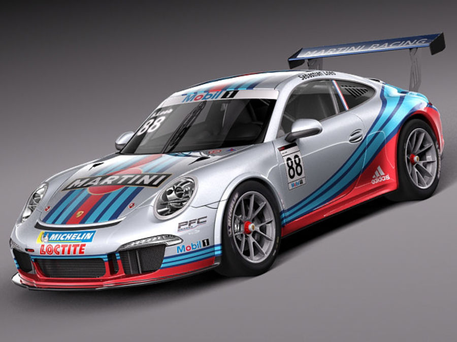 Porsche 911 GT3 Cup 2013 Martini royalty-free 3d model - Preview no. 1