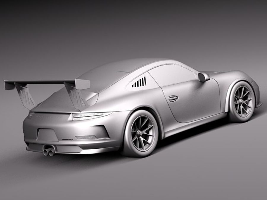 Porsche 911 GT3 Cup 2013 Martini royalty-free 3d model - Preview no. 13