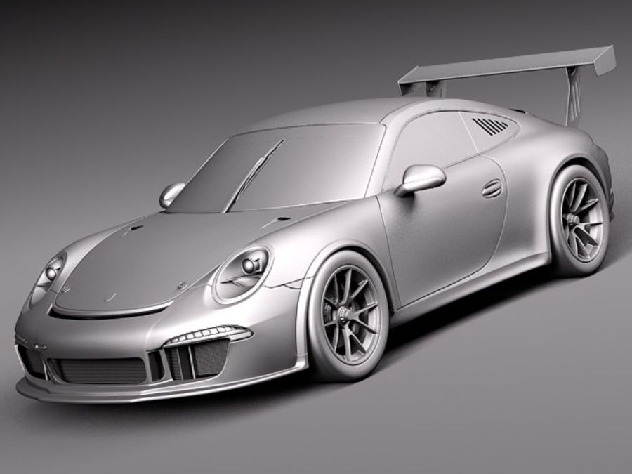Porsche 911 GT3 Cup 2013 Martini royalty-free 3d model - Preview no. 10