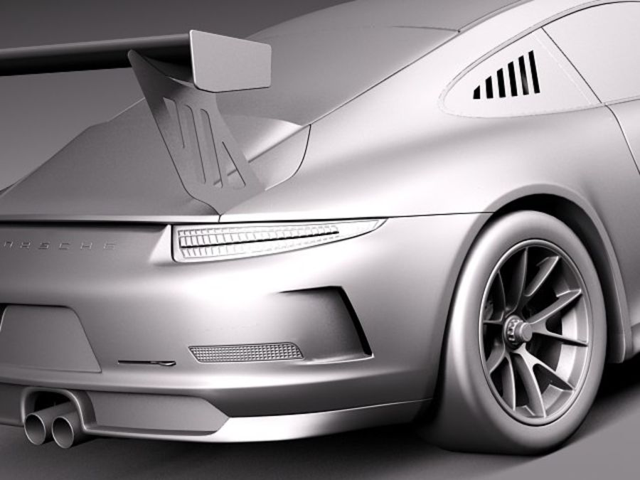 Porsche 911 GT3 Cup 2013 Martini royalty-free 3d model - Preview no. 12