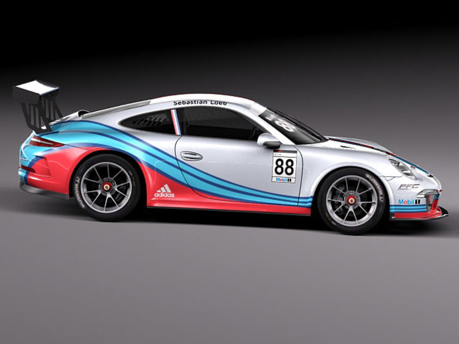 Porsche 911 GT3 Cup 2013 Martini royalty-free 3d model - Preview no. 7