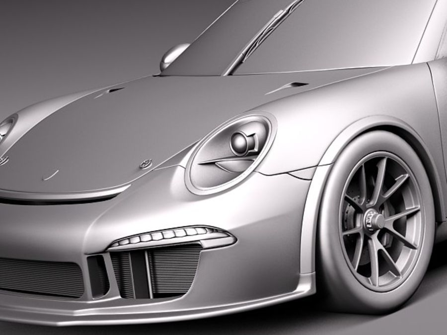Porsche 911 GT3 Cup 2013 Martini royalty-free 3d model - Preview no. 11