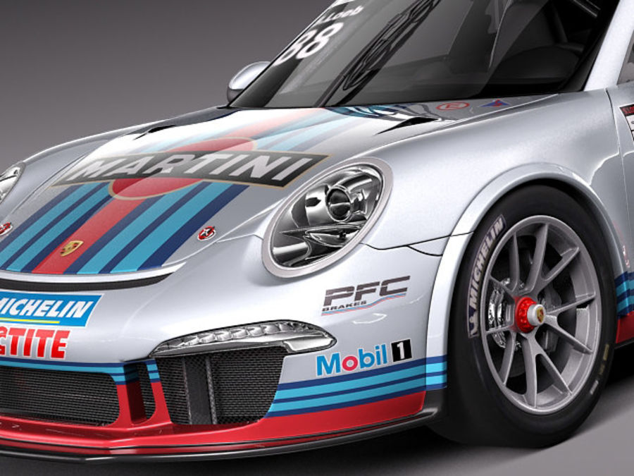 Porsche 911 GT3 Cup 2013 Martini royalty-free 3d model - Preview no. 3