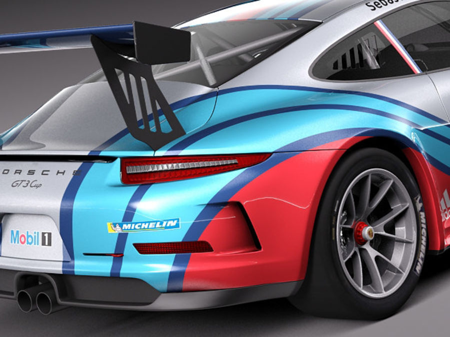 Porsche 911 GT3 Cup 2013 Martini royalty-free 3d model - Preview no. 4