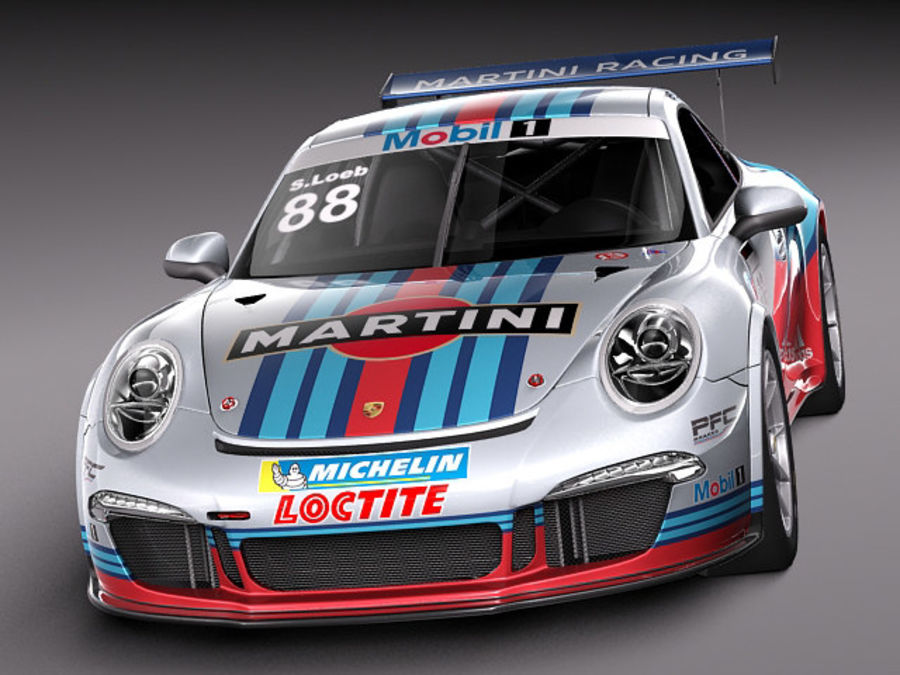 Porsche 911 GT3 Cup 2013 Martini royalty-free 3d model - Preview no. 2