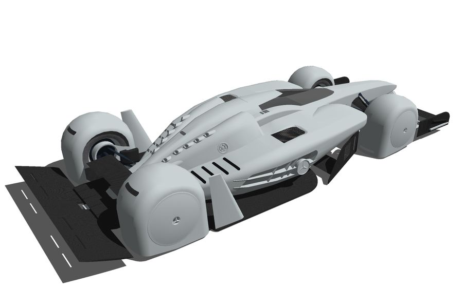 Концепт гоночного автомобиля royalty-free 3d model - Preview no. 5