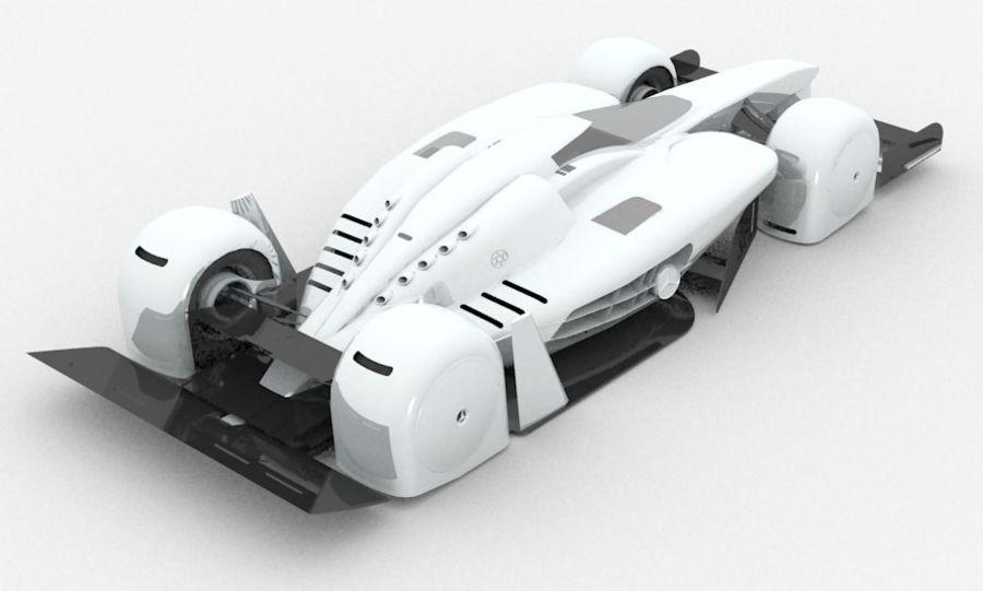 Концепт гоночного автомобиля royalty-free 3d model - Preview no. 9