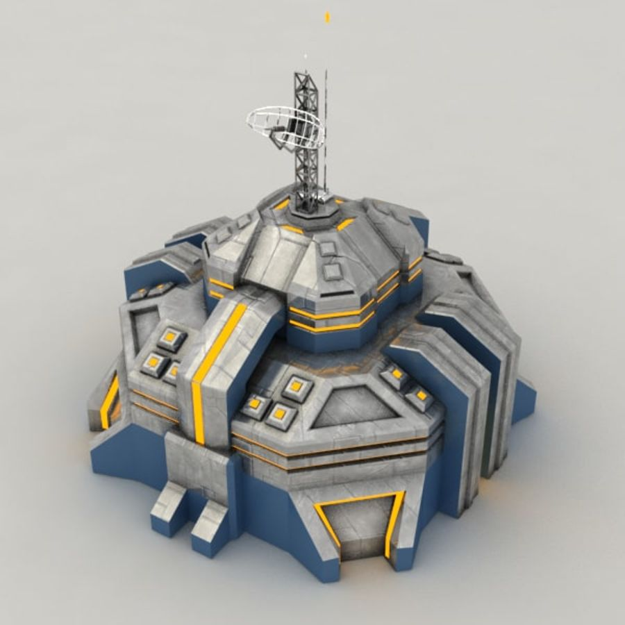 Command center v.2 sci-fi building royalty-free 3d model - Preview no. 4