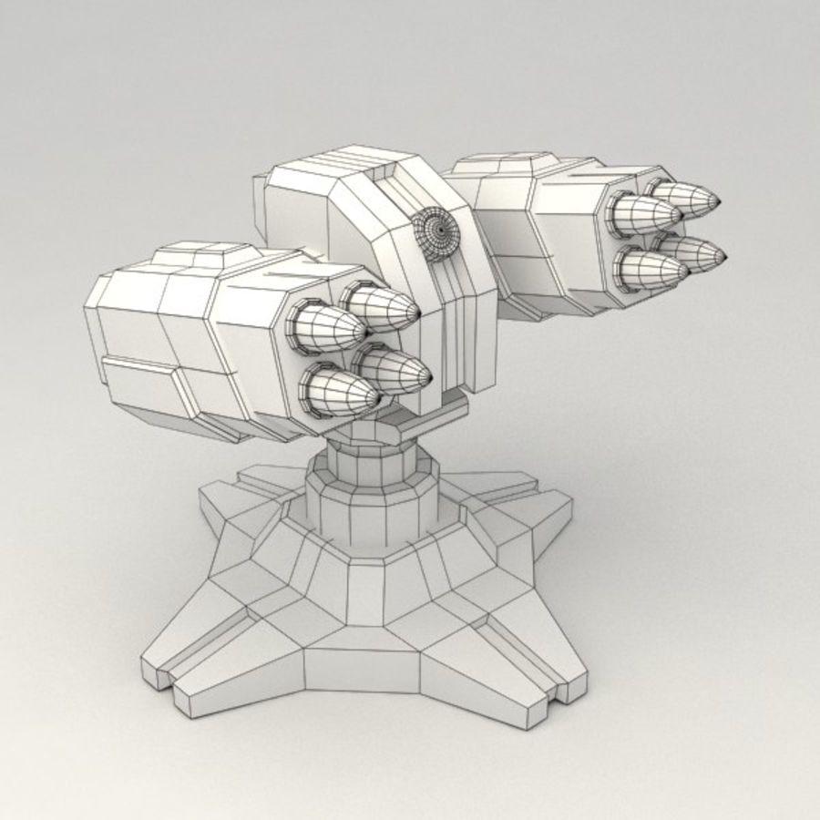 Bâtiment de science-fiction de défense aérienne royalty-free 3d model - Preview no. 5