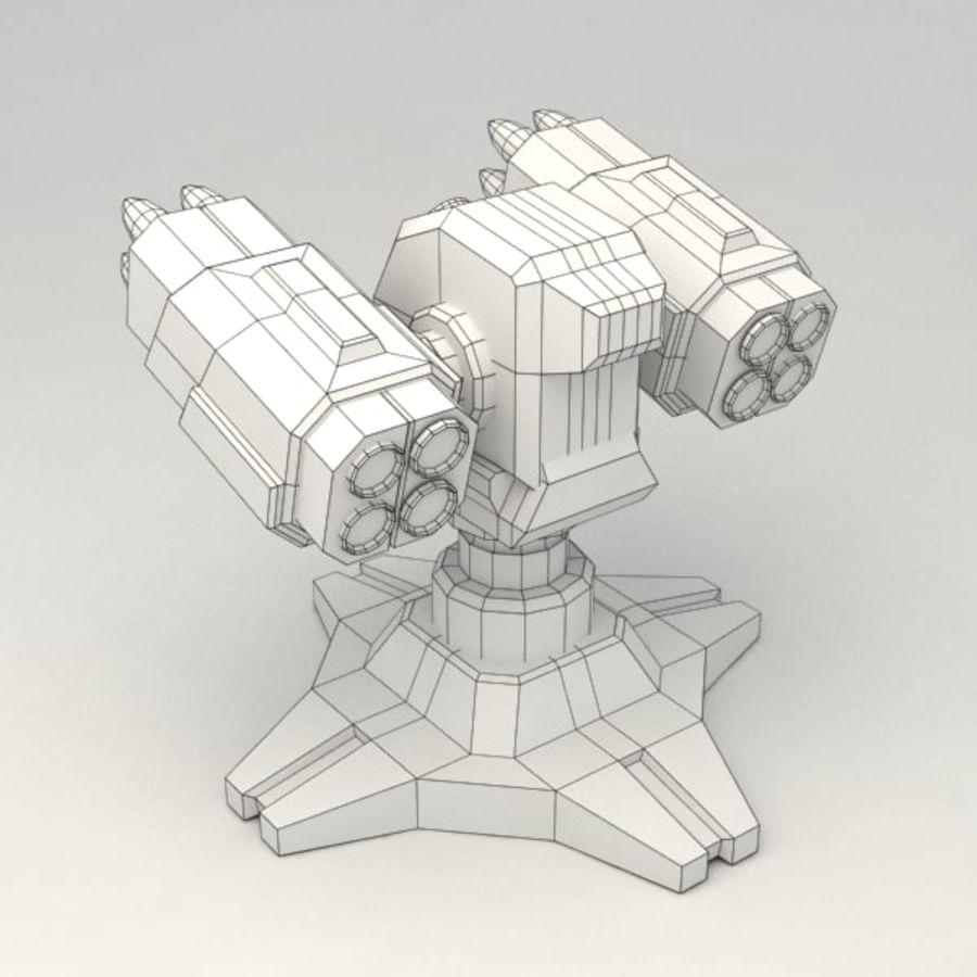 Bâtiment de science-fiction de défense aérienne royalty-free 3d model - Preview no. 6