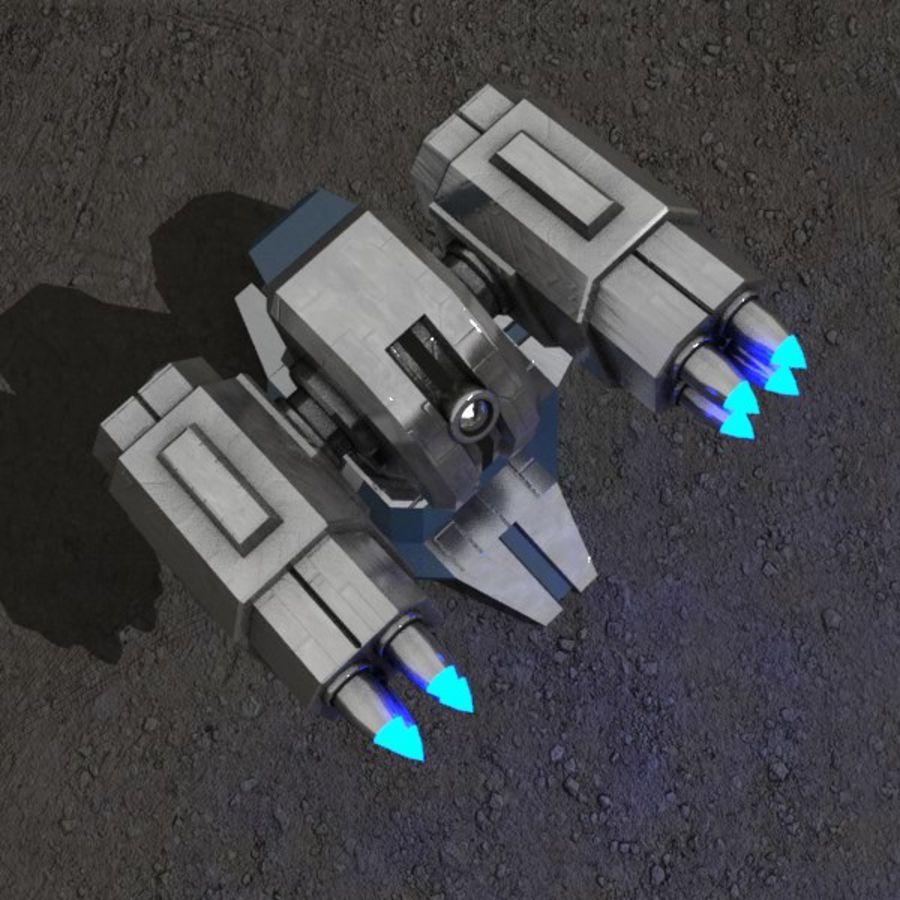 Bâtiment de science-fiction de défense aérienne royalty-free 3d model - Preview no. 3
