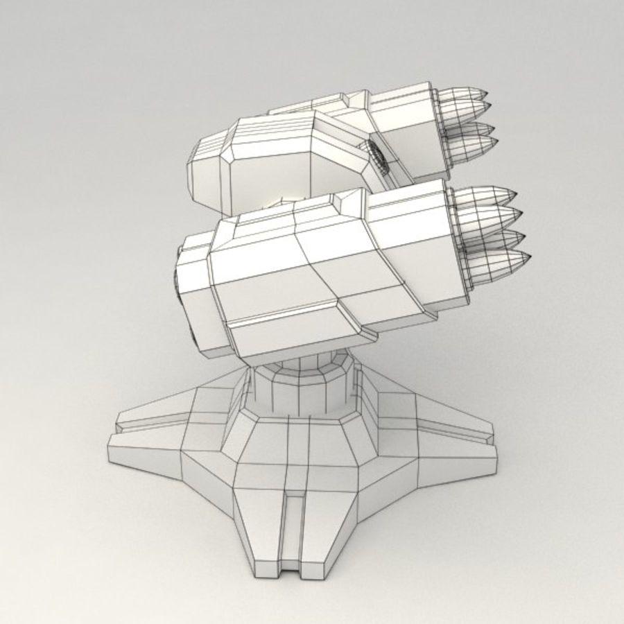 Bâtiment de science-fiction de défense aérienne royalty-free 3d model - Preview no. 7