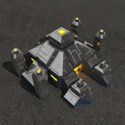 Edificio de ciencia ficción de altar. modelo 3d