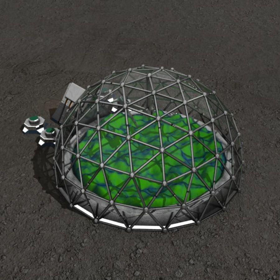 Edificio de ciencia ficción de la biosfera. royalty-free modelo 3d - Preview no. 2