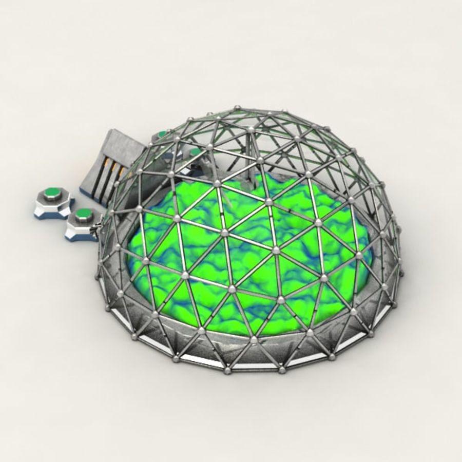 Edificio de ciencia ficción de la biosfera. royalty-free modelo 3d - Preview no. 5