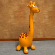Kreskówka żyrafa Toon 3d model